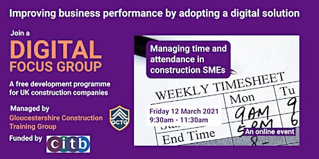 Digital Focus Group: Managing time and attendance in construction SMEs tickets