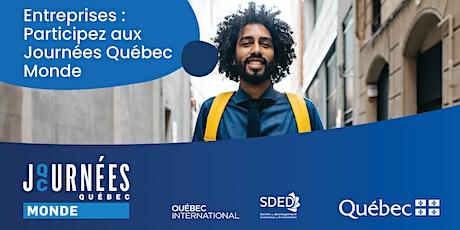 Journées Québec Monde billets