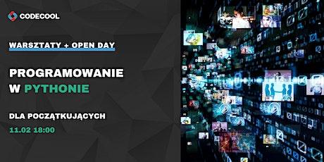 Programowanie w Pythonie - bezpłatne warsztaty online + Open Day tickets