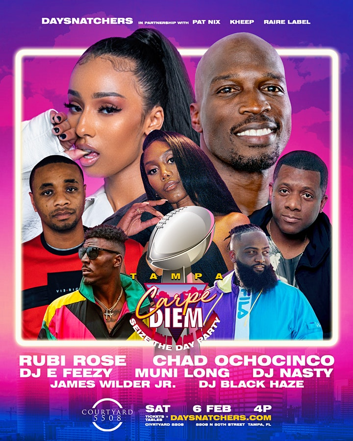 """Carpe Diem"" Day Party: w/Rubi Rose, Chad Johnson, FACET + More image"
