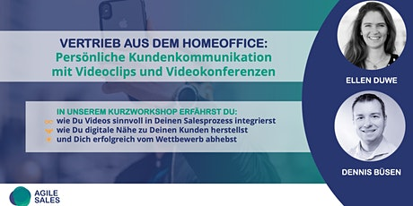 Sales Boost durch Videos: Wie Du remote mit Videos Neukunden gewinnst Tickets