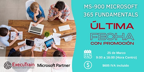 CURSO OFICIAL MS-900 Microsoft 365 Fundamentals biglietti