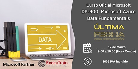 CURSO OFICIAL DP900 MICROSOFT AZURE DATA FUNDAMENTALS tickets
