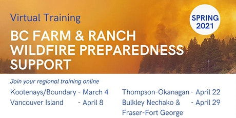 Training for BC Farm & Ranch Wildfire Preparedness Support tickets