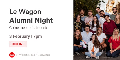 English Event - Alumni Night   Meet our Alumni and Team!   Le Wagon SP tickets