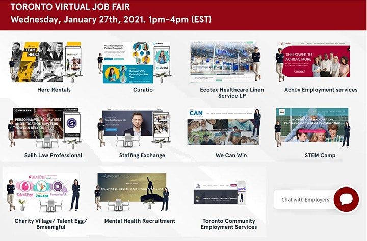 Greater Toronto Virtual Job Fair - March 9th, 2021 image