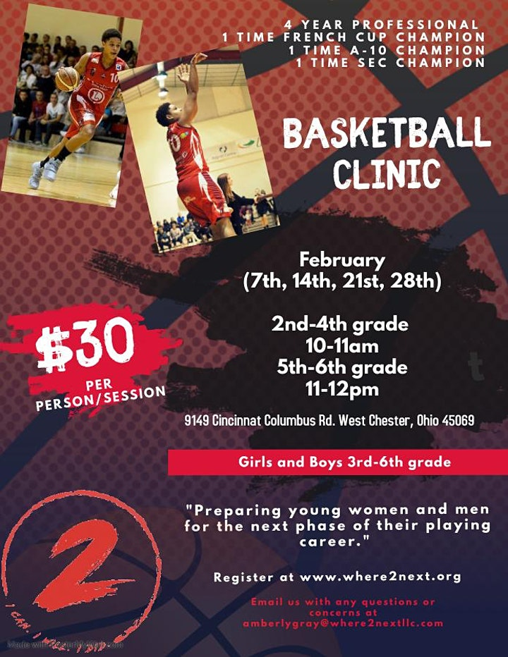 WHERE2NEXT Youth Basketball Clinic image