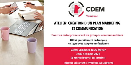 Atelier: Création d'un plan marketing et communication billets