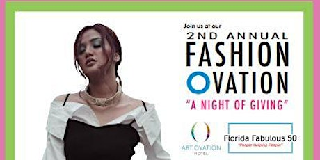 """2nd Annual Fashion Ovation """"A Night of Giving"""" Charity Fashion Show tickets"""