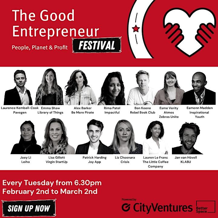 Good Entrepreneur Festival '21- How Can Good Entrepreneurs Save the Planet image