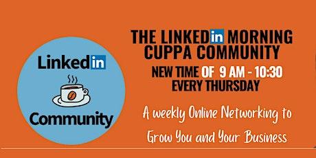 LinkedIn Morning Cuppa Community Networking Newcastle tickets