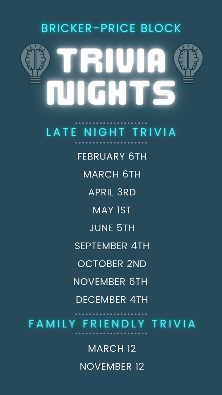 Late Night Trivia (In-Person + Virtual Options) image