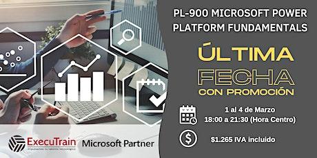 CURSO OFICIAL PL-900 MICROSOFT POWER PLATFORM FUNDAMENTALS boletos