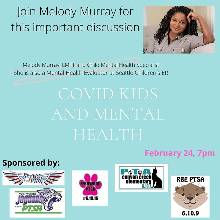 COVID, Kids and Mental Health presented by Melody Murray, LMFT, CMHS image