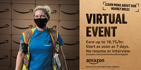 Amazon is Hiring! Virtual Info Session -  Central CT Warehouse Jobs tickets
