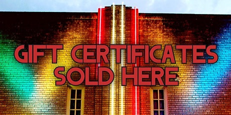 Gift Certificates for 2021 tickets
