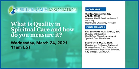 What is Quality in Spiritual Care and How Do You Measure It? tickets
