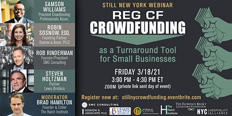 STILL NY: REG CF CROWDFUNDING as a Turnaround Tool for Small Businesses tickets
