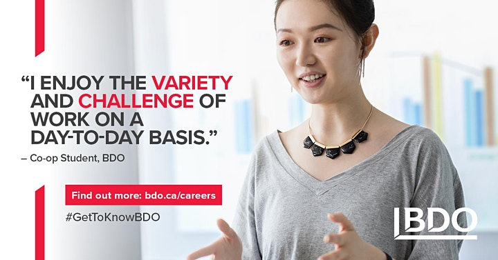 BDO Technology Information Session : Western Canadian Campuses image