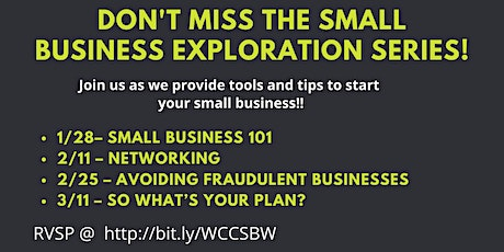 Wesley Community Center Small Business Exploration Series! tickets