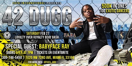 42 Dugg @ King of Diamonds Miami tickets