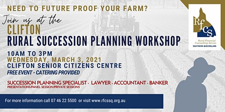 Clifton Succession Planning Workshop tickets