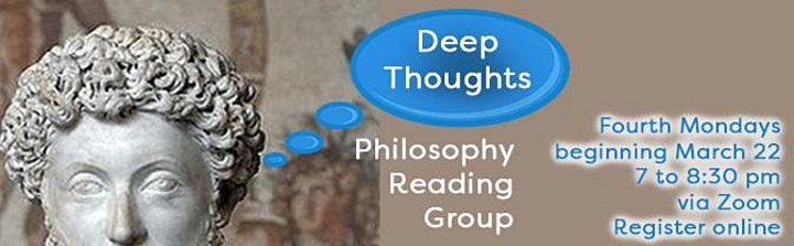 Deep Thoughts Philosophy Reading Group image