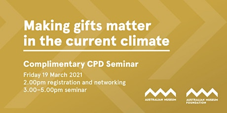 Free CPD Seminar - Making Gifts Matter in the Current Climate tickets