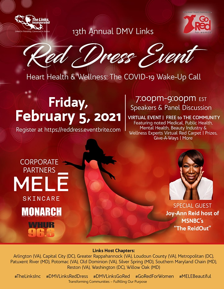 13th Annual  DMV Links Red Dress Event image