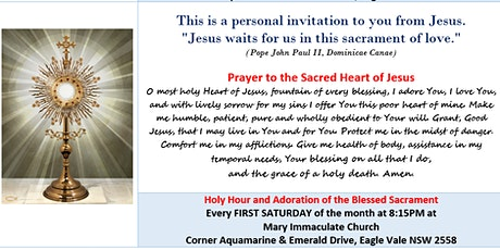 Adoration of the Blessed Sacrament (Holy Hour) tickets