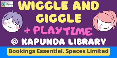 Wiggle and Giggle + Playtime @ The Kapunda Library