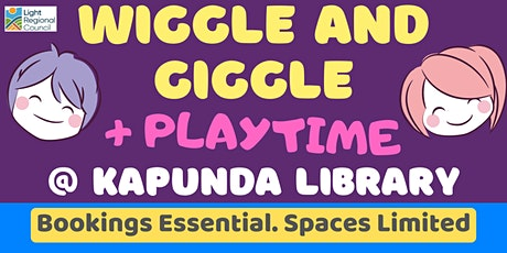 Wiggle and Giggle + Playtime @ The Kapunda Library tickets