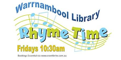 Warrnambool Library Rhymetime - Fridays 10:30am tickets
