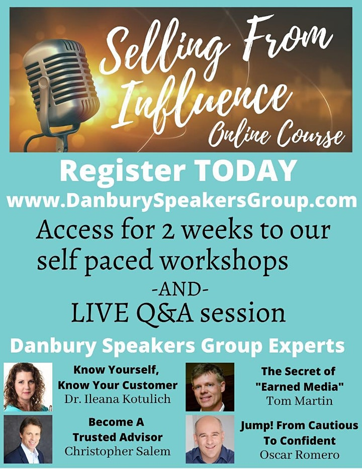 The Danbury Speakers Group Online Course: Selling from Influence image