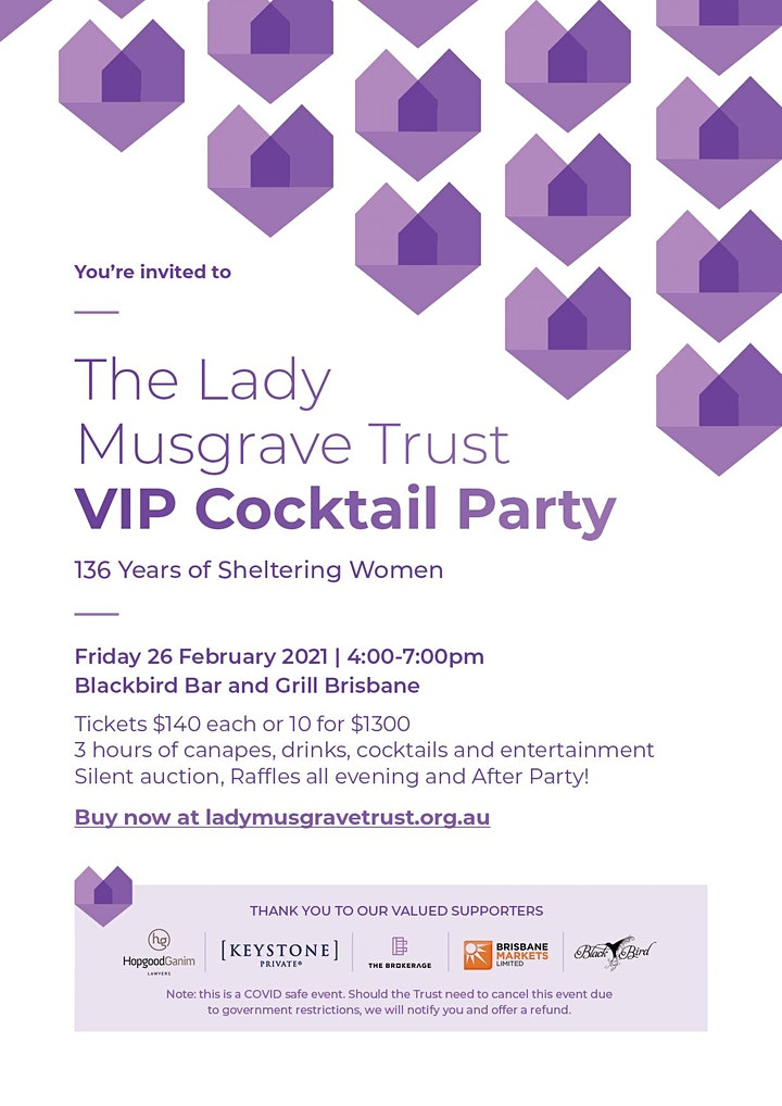 The Lady Musgrave Trust VIP Cocktail Party image