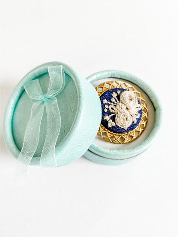 Hand Embroidered Brooch class image