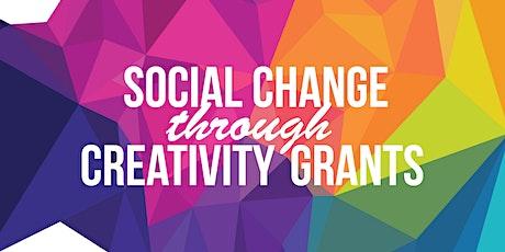 Social Change Through Creativity Grants Workshops tickets