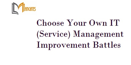 Choose Your Own IT Management Improvement Battles 4Days Training - Napier tickets
