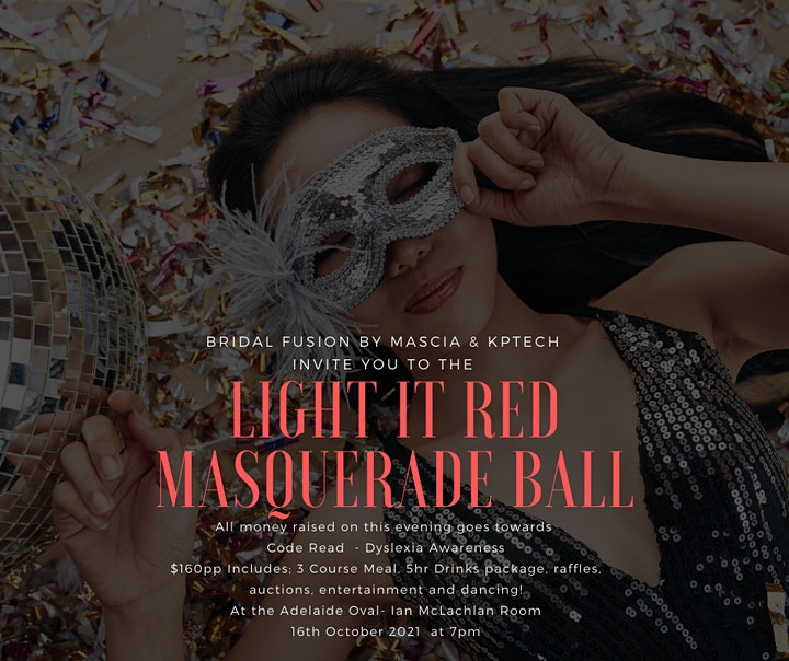 The Light It Red Masquerade Ball -  Code REaD Dylexia Network.. image