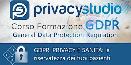 GDPR, privacy e sanità: la riservatezza dei tuoi pazienti biglietti