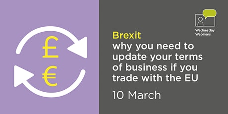 Brexit – updating your terms of business if you trade with the EU tickets