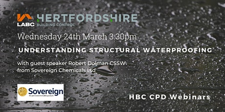 HBC Webinar Structural Waterproofing with Sovereign Ltd tickets