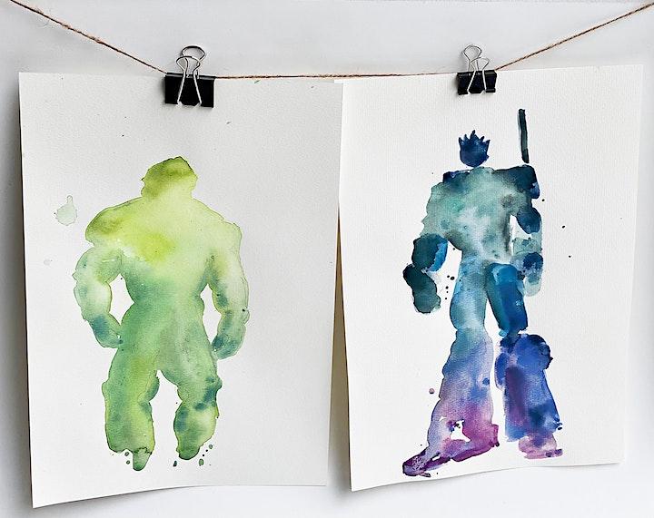 Online-Workshop | Aquarell & Lieblingsfiguren | Für 8- bis 14-Jährige: Bild