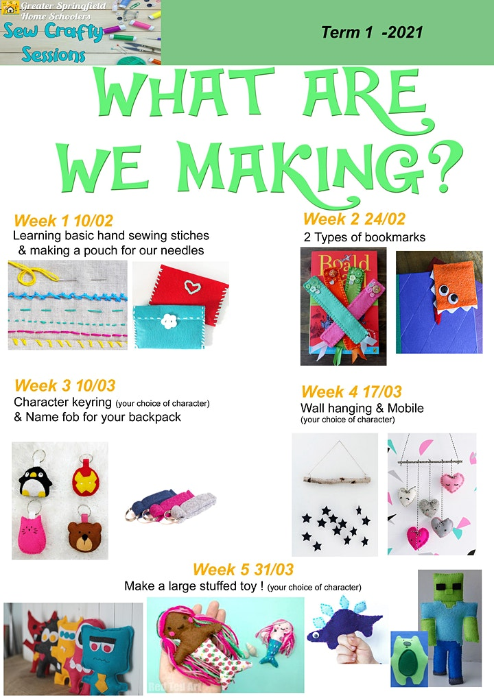 Sew Crafty Sessions Term 1 2021 image