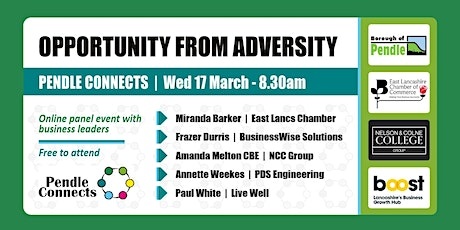 Pendle Connects - Opportunity from Adversity - Panel Event & Networking tickets