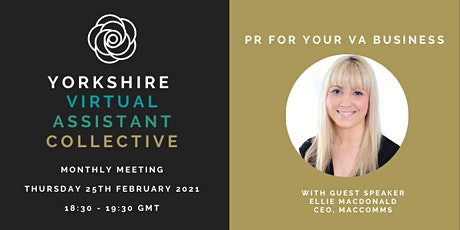 Yorkshire VA Collective Monthly Meeting - February 2021 tickets