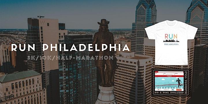 Run Philadelphia Virtual 5K/10K/Half-Marathon image