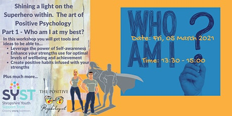 Shining a light on the superhero  within.  Positive Psychology - Part 1 tickets