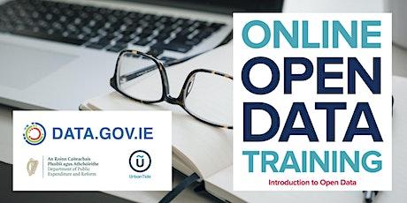 ONLINE Ireland Open Data Initiative - Introduction to Open Data (June 2021) ingressos