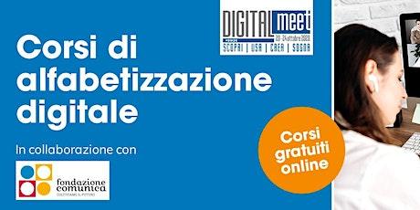Corso di Alfabetizzazione Digitale - Zoom e Google Meet-AVANZATO biglietti